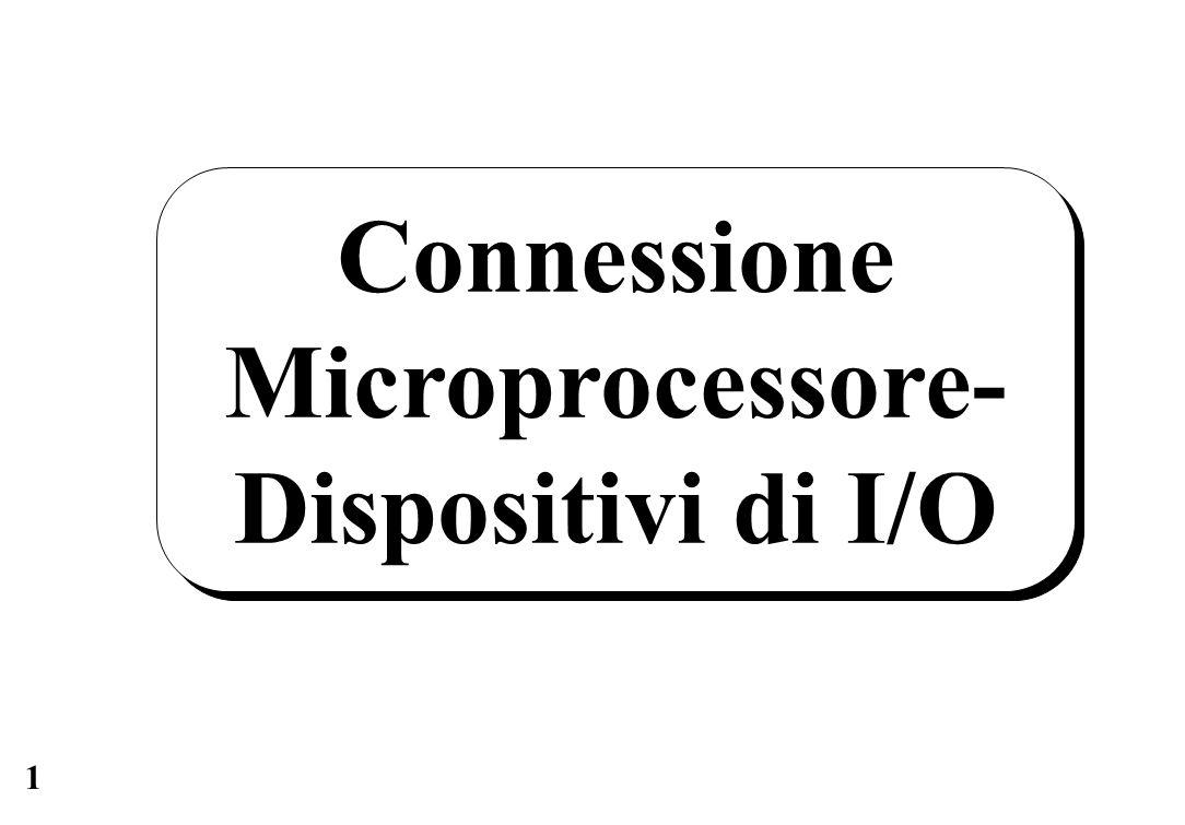 1 Connessione Microprocessore- Dispositivi di I/O