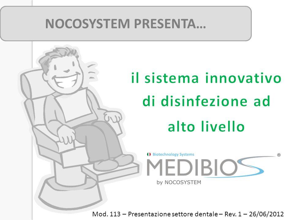 NOCOSYSTEM PRESENTA… Mod. 113 – Presentazione settore dentale – Rev. 1 – 26/06/2012