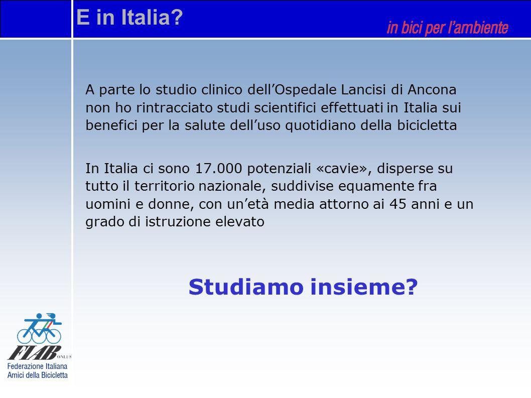 A parte lo studio clinico dell'Ospedale Lancisi di Ancona non ho rintracciato studi scientifici effettuati in Italia sui benefici per la salute dell'u