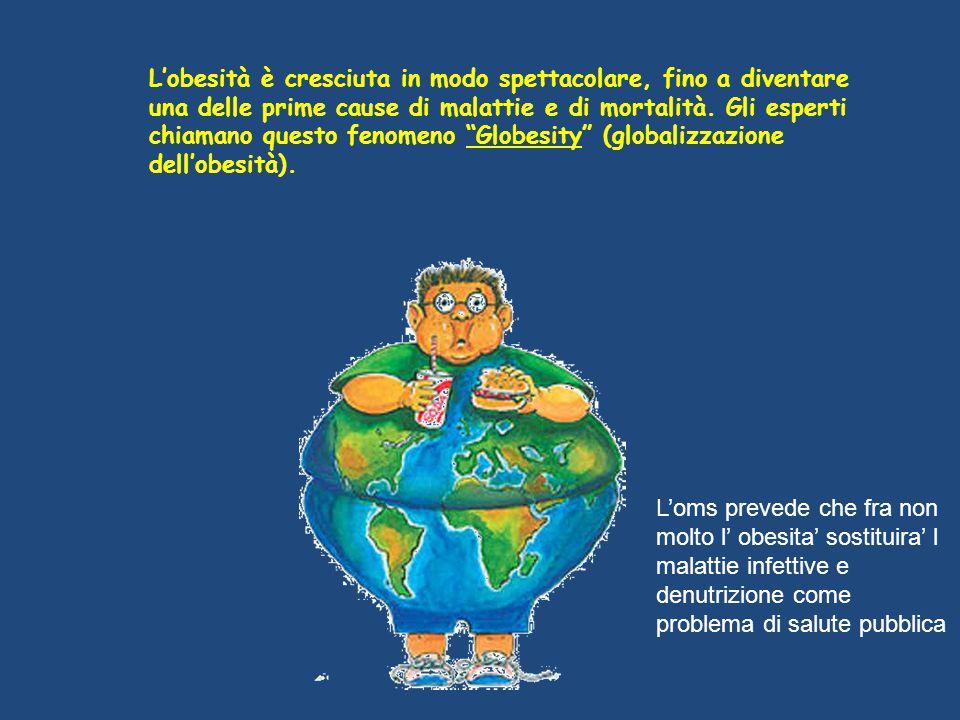 """L'obesità è cresciuta in modo spettacolare, fino a diventare una delle prime cause di malattie e di mortalità. Gli esperti chiamano questo fenomeno """"G"""