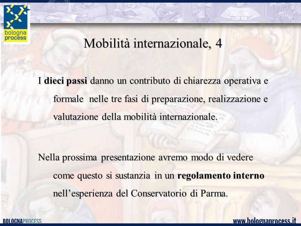 Mobilità internazionale, 4 I dieci passi danno un contributo di chiarezza operativa e formale nelle tre fasi di preparazione, realizzazione e valutazione della mobilità internazionale.