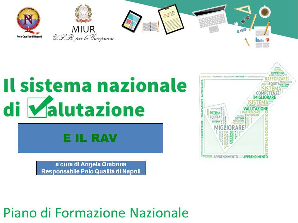Piano di Formazione Nazionale a cura di Angela Orabona Responsabile Polo Qualità di Napoli E IL RAV