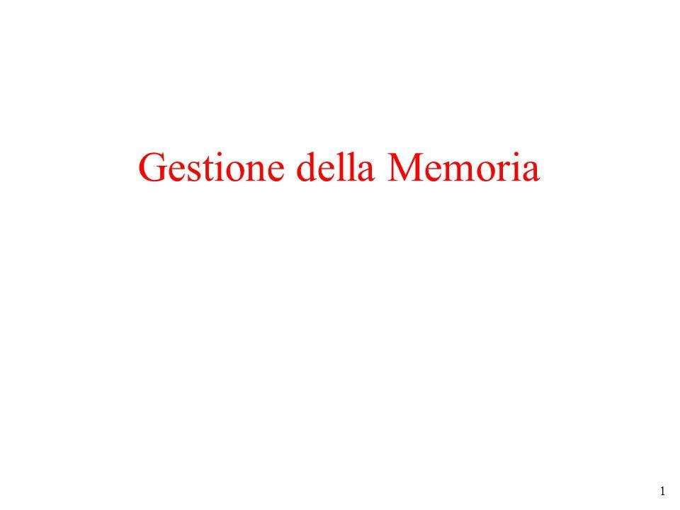 1 Gestione della Memoria