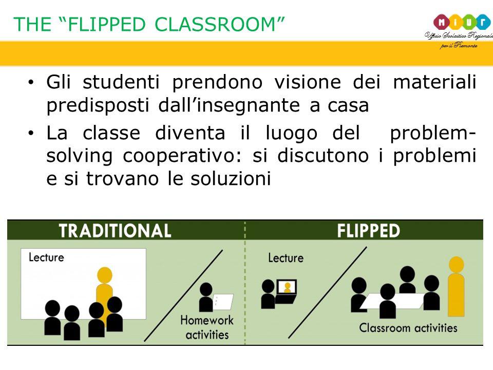 """Ufficio Scolastico Regionale per il Piemonte THE """"FLIPPED CLASSROOM"""" Gli studenti prendono visione dei materiali predisposti dall'insegnante a casa La"""