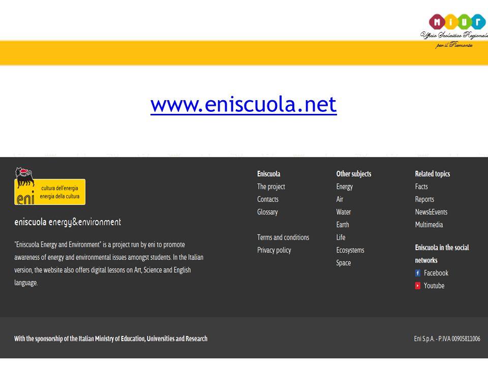 Ufficio Scolastico Regionale per il Piemonte www.eniscuola.net
