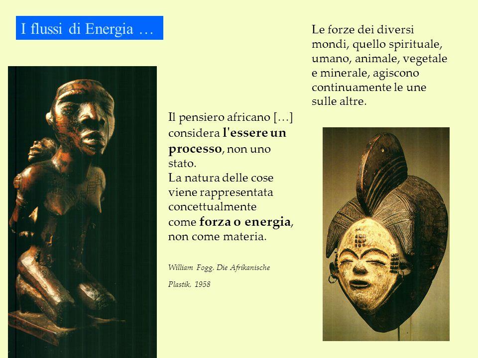 I flussi di Energia … Il pensiero africano […] considera l essere un processo, non uno stato.
