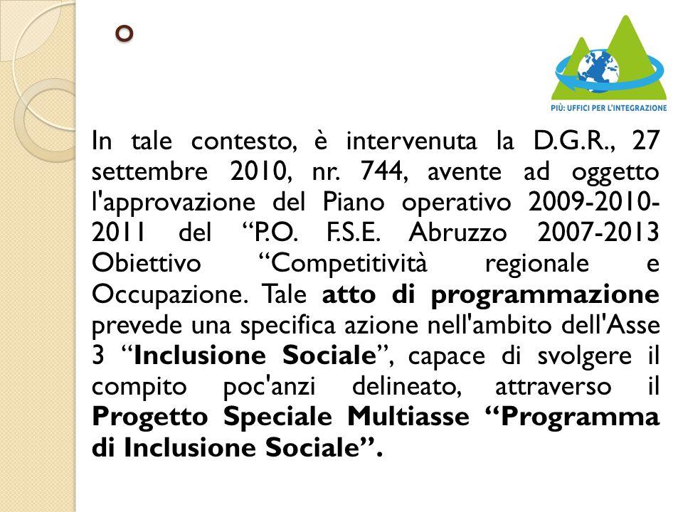 o In tale contesto, è intervenuta la D.G.R., 27 settembre 2010, nr.