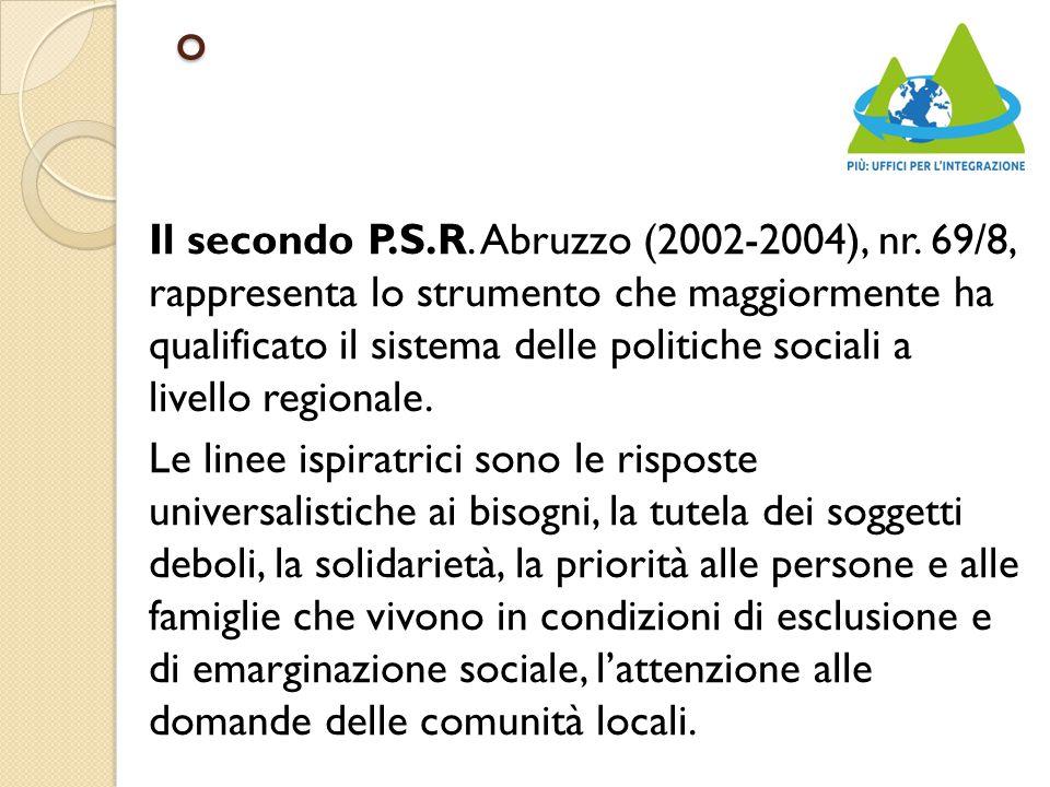 o Il secondo P.S.R. Abruzzo (2002-2004), nr.