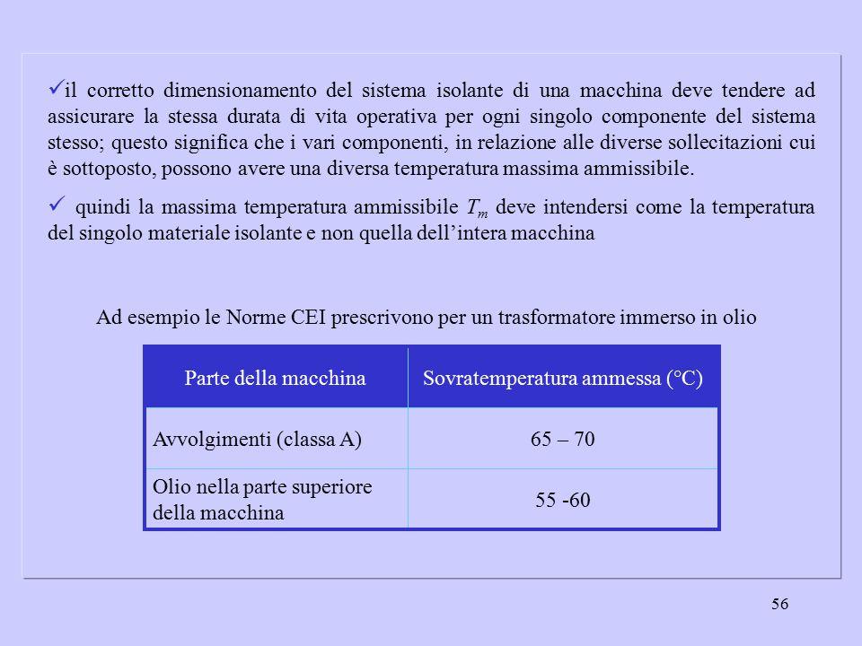 56 il corretto dimensionamento del sistema isolante di una macchina deve tendere ad assicurare la stessa durata di vita operativa per ogni singolo com
