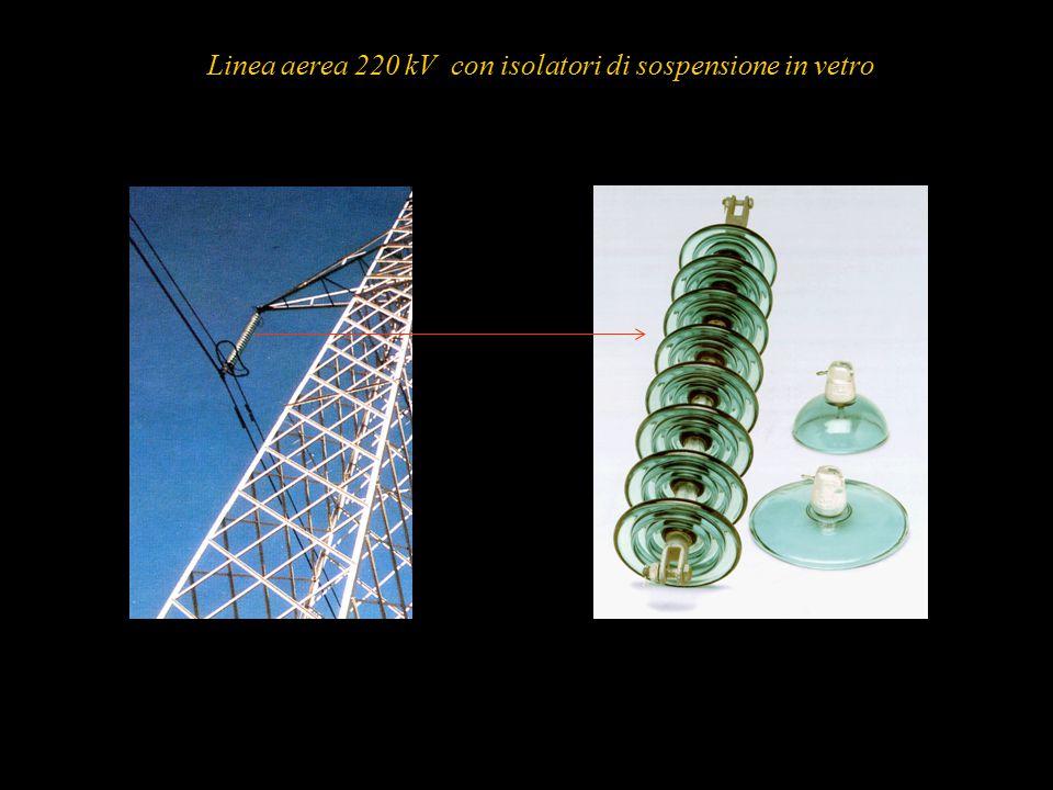 58 Linea aerea 220 kV con isolatori di sospensione in vetro