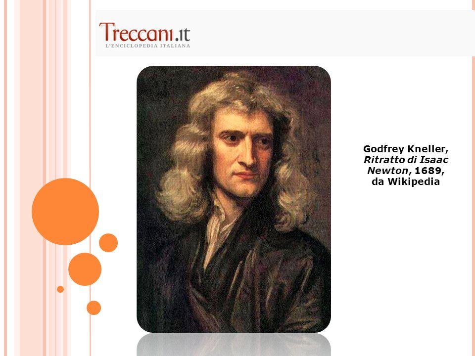 Godfrey Kneller, Ritratto di Isaac Newton, 1689, da Wikipedia