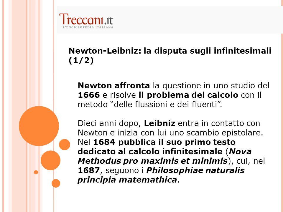 """Newton affronta la questione in uno studio del 1666 e risolve il problema del calcolo con il metodo """"delle flussioni e dei fluenti"""". Dieci anni dopo,"""
