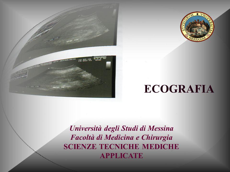 Università degli Studi di Messina Facoltà di Medicina e Chirurgia SCIENZE TECNICHE MEDICHE APPLICATE ECOGRAFIA