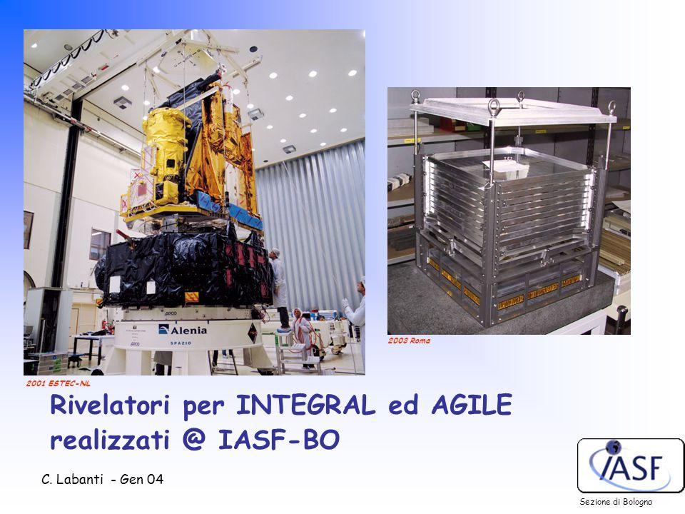 C. Labanti - Gen 04 Rivelatori per INTEGRAL ed AGILE realizzati @ IASF-BO Sezione di Bologna 2001 ESTEC-NL 2003 Roma