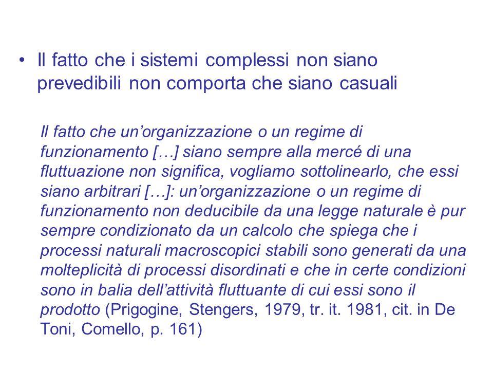 Il fatto che i sistemi complessi non siano prevedibili non comporta che siano casuali Il fatto che un'organizzazione o un regime di funzionamento […]