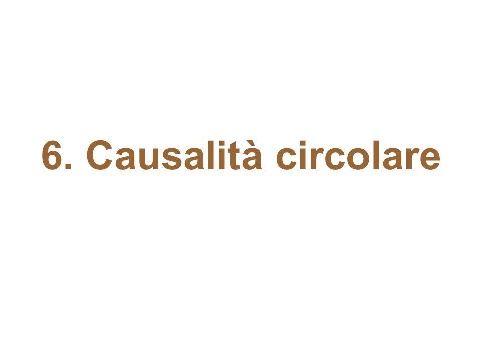 6. Causalità circolare