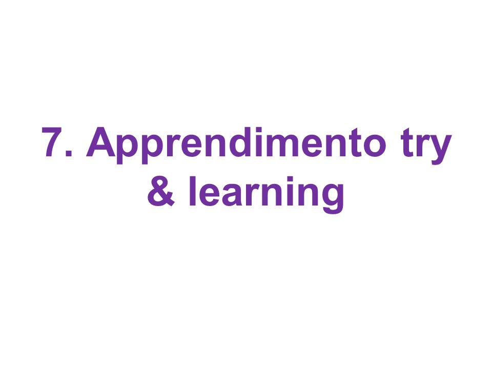 7. Apprendimento try & learning