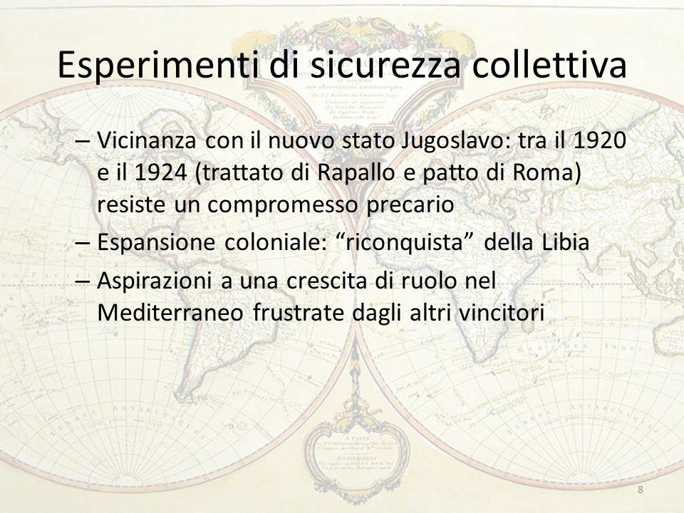 Esperimenti di sicurezza collettiva 8 – Vicinanza con il nuovo stato Jugoslavo: tra il 1920 e il 1924 (trattato di Rapallo e patto di Roma) resiste un