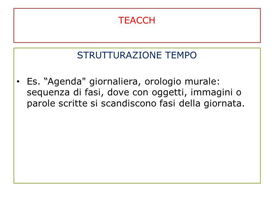 """TEACCH STRUTTURAZIONE TEMPO Es. """"Agenda"""