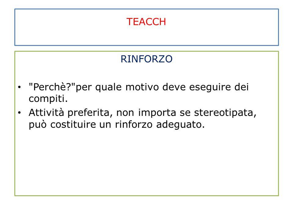 TEACCH RINFORZO