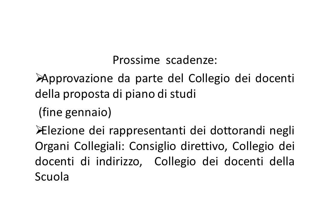 Prossime scadenze:  Approvazione da parte del Collegio dei docenti della proposta di piano di studi (fine gennaio)  Elezione dei rappresentanti dei