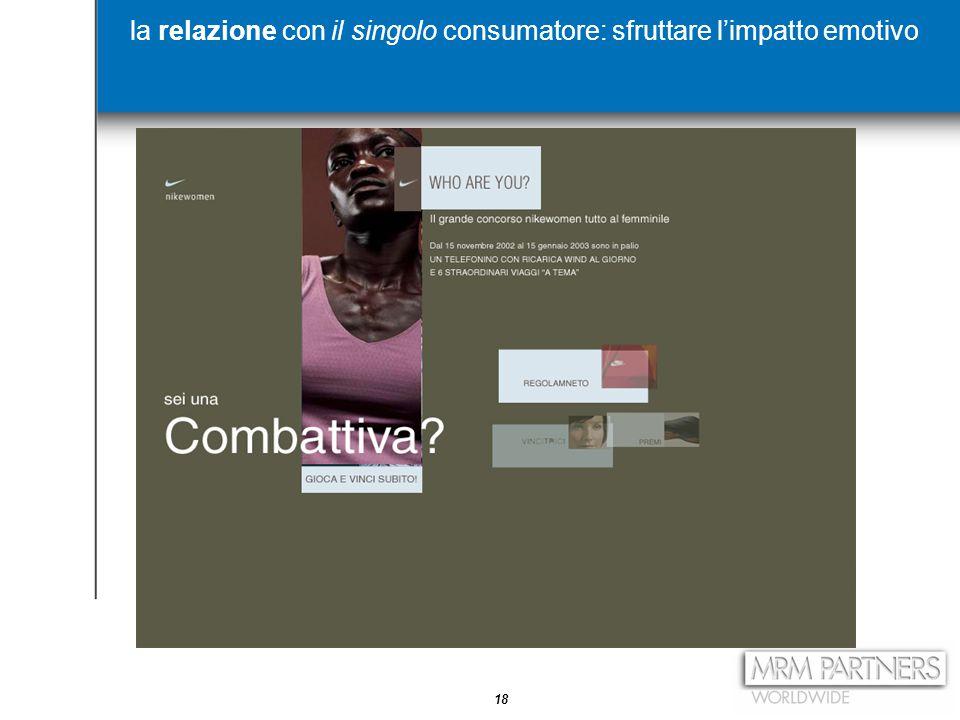 18 la relazione con il singolo consumatore: sfruttare l'impatto emotivo