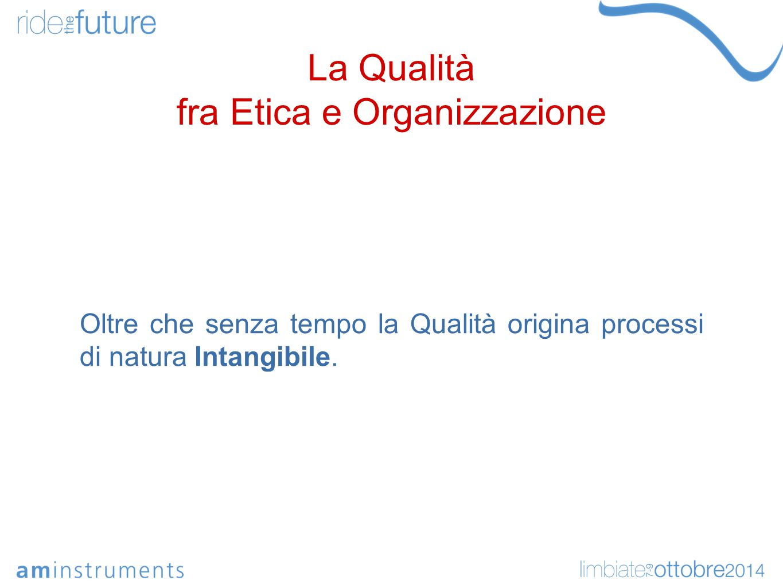 La Qualità fra Etica e Organizzazione Oltre che senza tempo la Qualità origina processi di natura Intangibile.