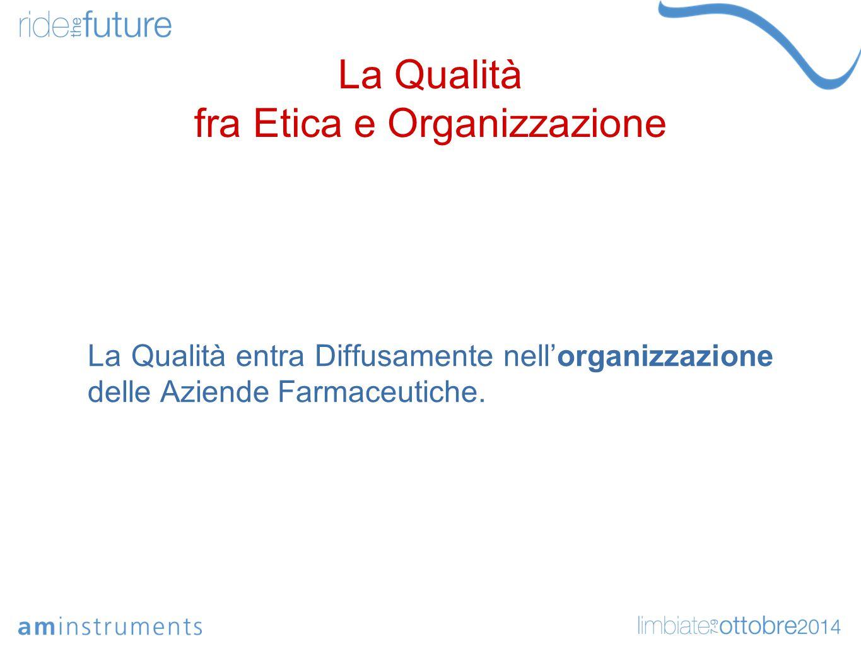 La Qualità fra Etica e Organizzazione Fare Qualità attraverso l'approfondimento dei Principi Manageriali