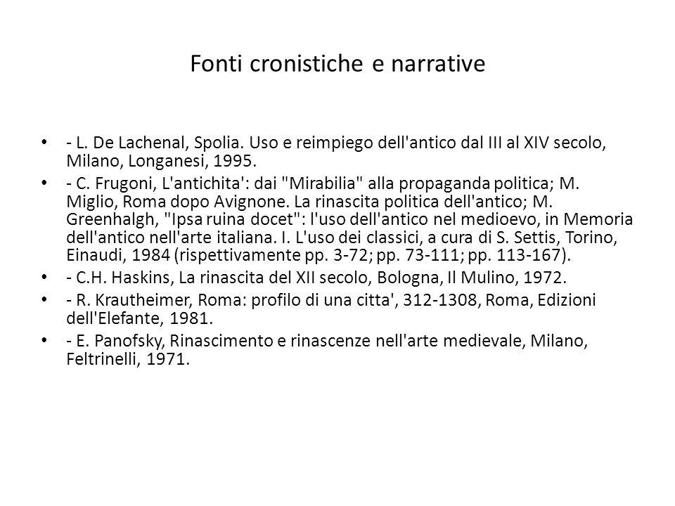 Fonti cronistiche e narrative - L. De Lachenal, Spolia.