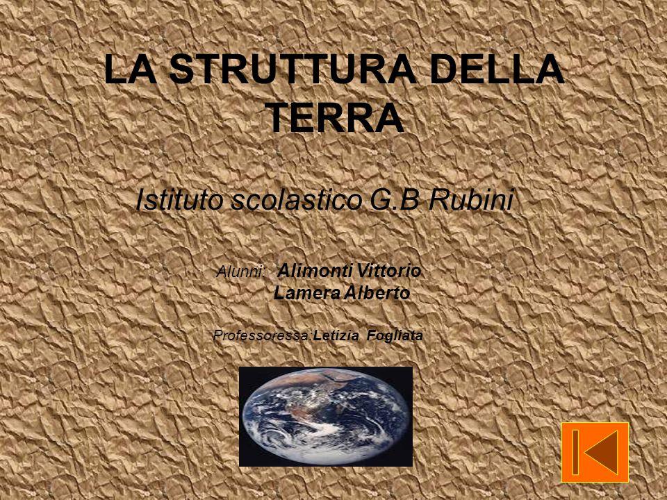 Alunni: Alimonti Vittorio Lamera Alberto Professoressa:Letizia Fogliata LA STRUTTURA DELLA TERRA Istituto scolastico G.B Rubini