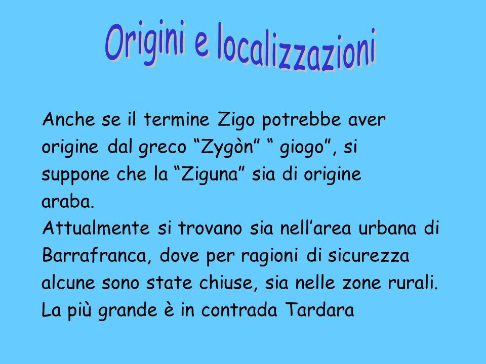 Anche se il termine Zigo potrebbe aver origine dal greco Zygòn giogo , si suppone che la Ziguna sia di origine araba.