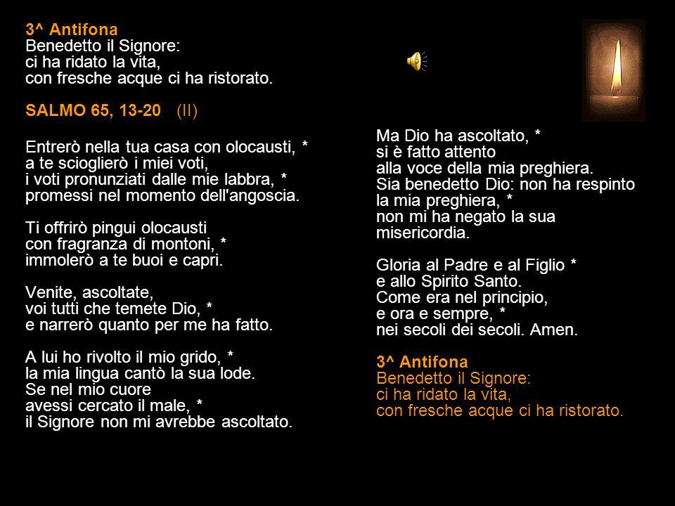 2^ Antifona Esulti la terra e ti adori, Signore: sei apparso come luce nuova che illumina i tempi.