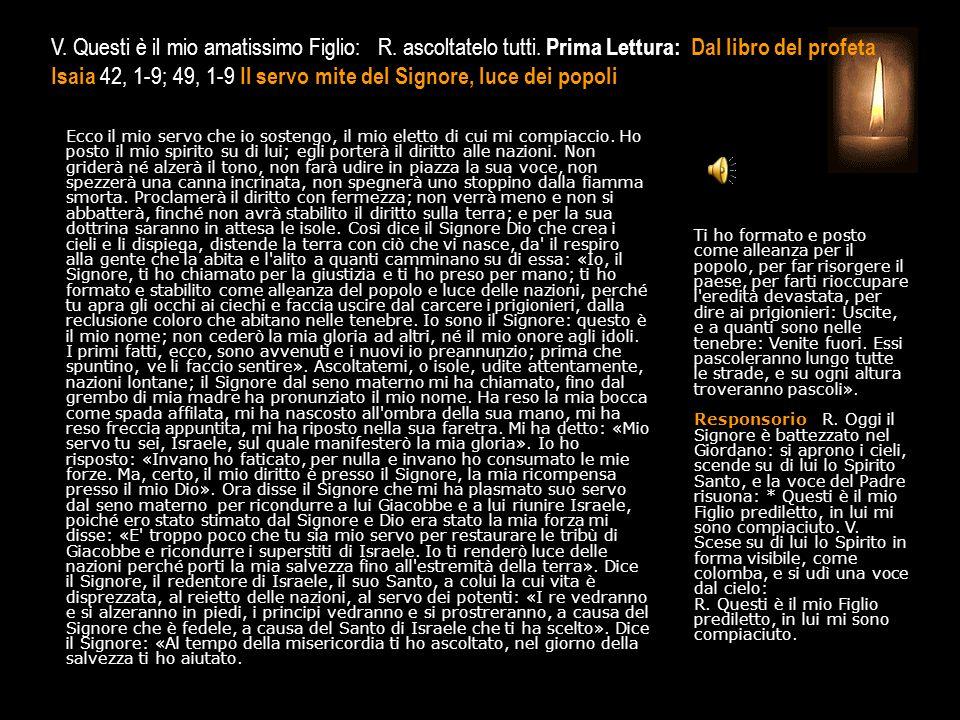 3^ Antifona Benedetto il Signore: ci ha ridato la vita, con fresche acque ci ha ristorato.