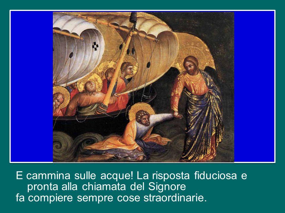 Questo racconto è una bella icona della fede dell'apostolo Pietro. Nella voce di Gesù che gli dice: «Vieni!», lui riconosce l'eco del primo incontro s