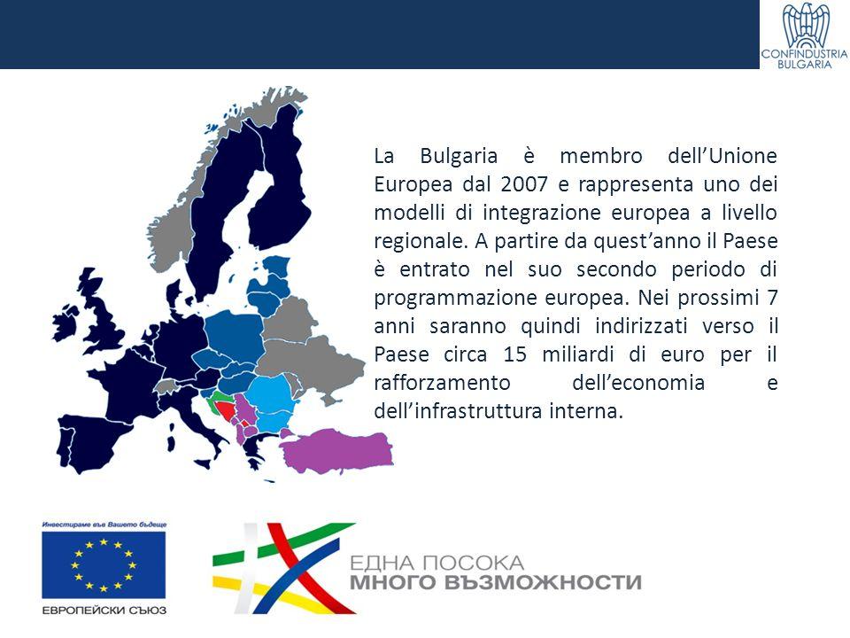 La Bulgaria è membro dell'Unione Europea dal 2007 e rappresenta uno dei modelli di integrazione europea a livello regionale.