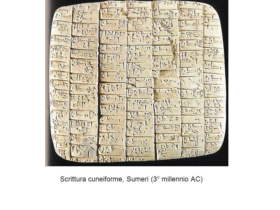 Scrittura cuneiforme, Sumeri (3° millennio AC)
