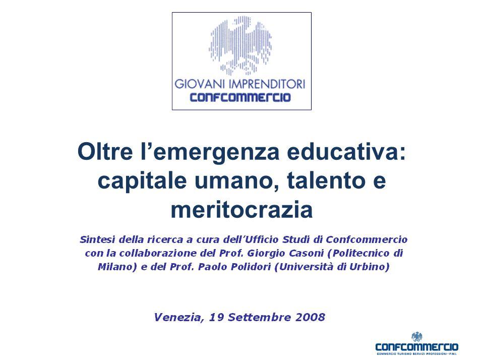 Oltre l'emergenza educativa: capitale umano, talento e meritocrazia