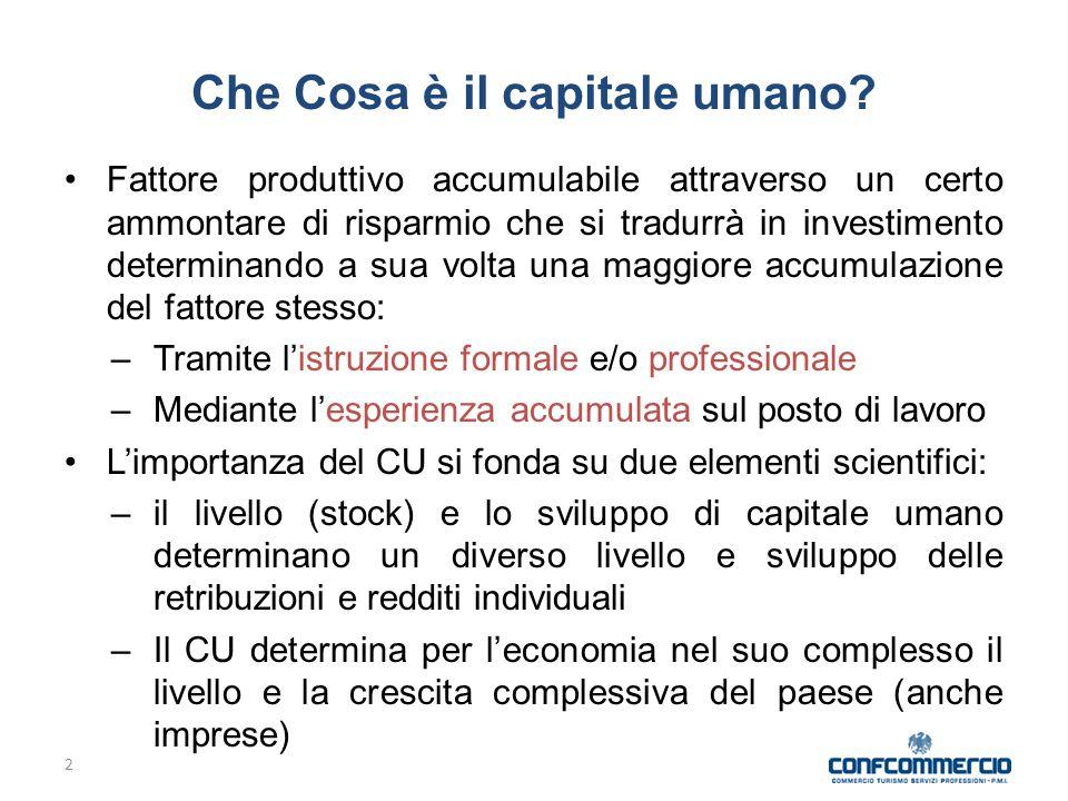 2 Che Cosa è il capitale umano.