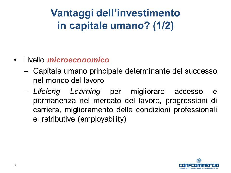 3 Vantaggi dell'investimento in capitale umano.