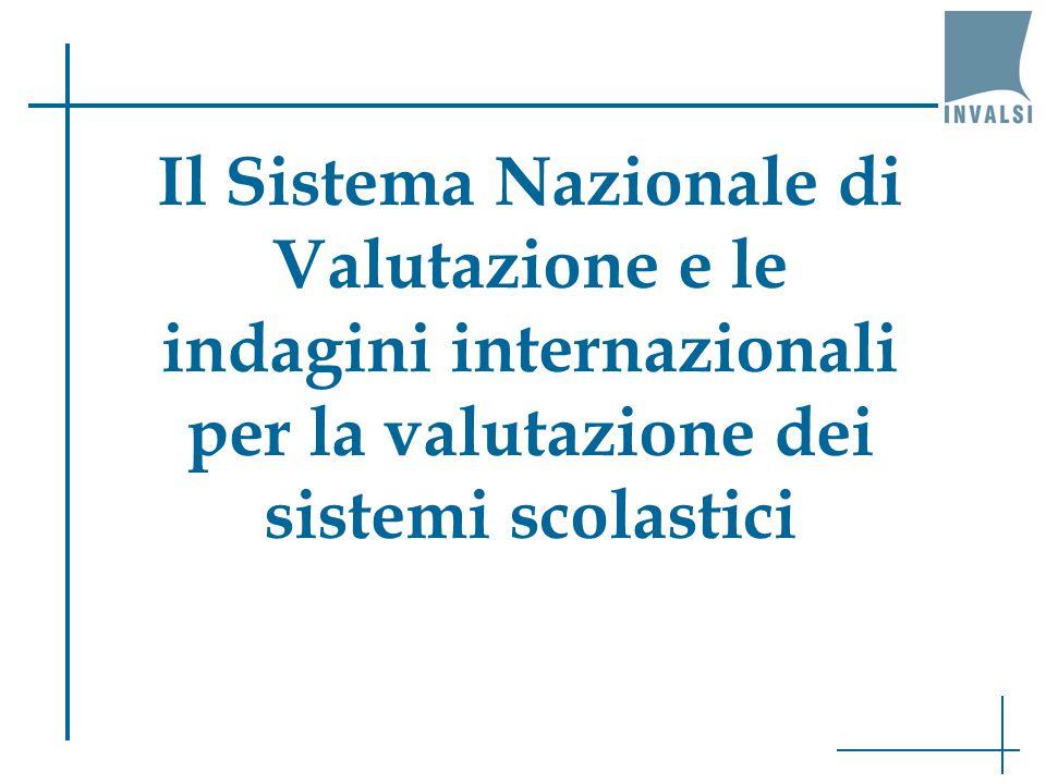 Il Sistema Nazionale di Valutazione e le indagini internazionali per la valutazione dei sistemi scolastici
