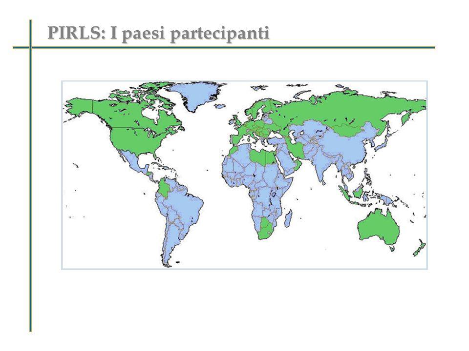 PIRLS: I paesi partecipanti