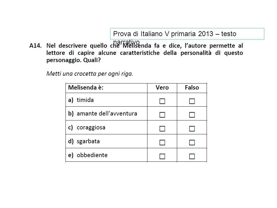 Prova di Italiano V primaria 2013 – testo narrativo