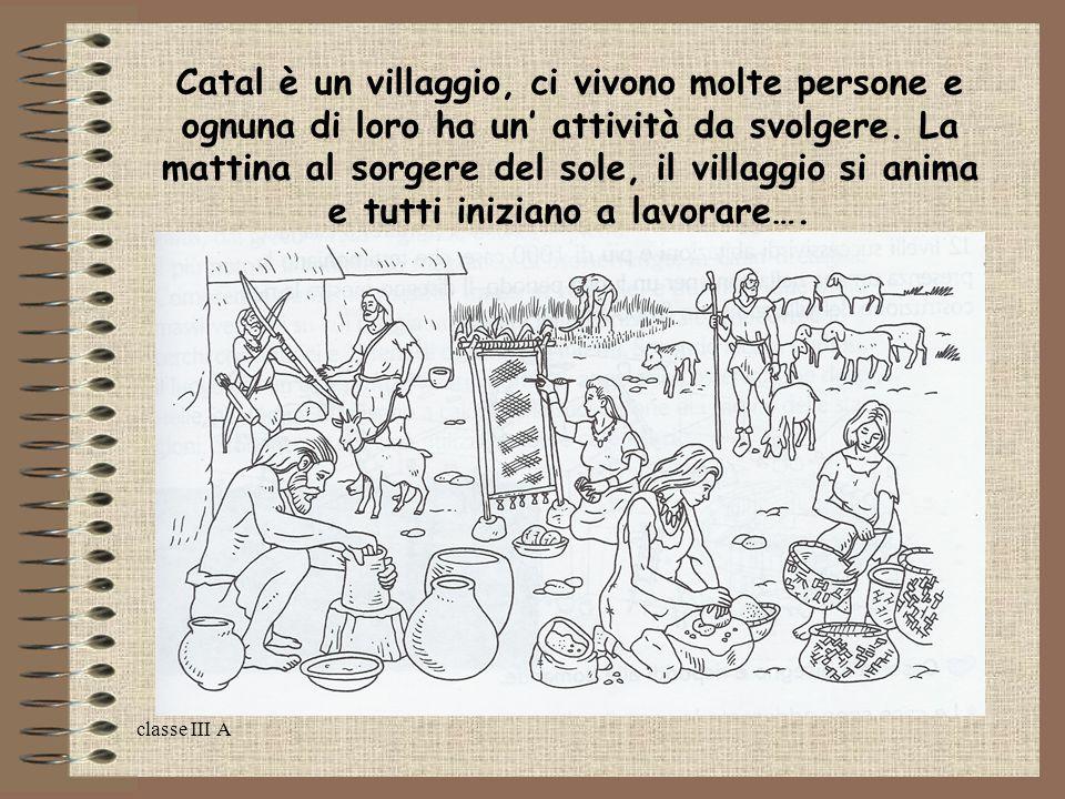 classe III A Catal è un villaggio, ci vivono molte persone e ognuna di loro ha un' attività da svolgere. La mattina al sorgere del sole, il villaggio