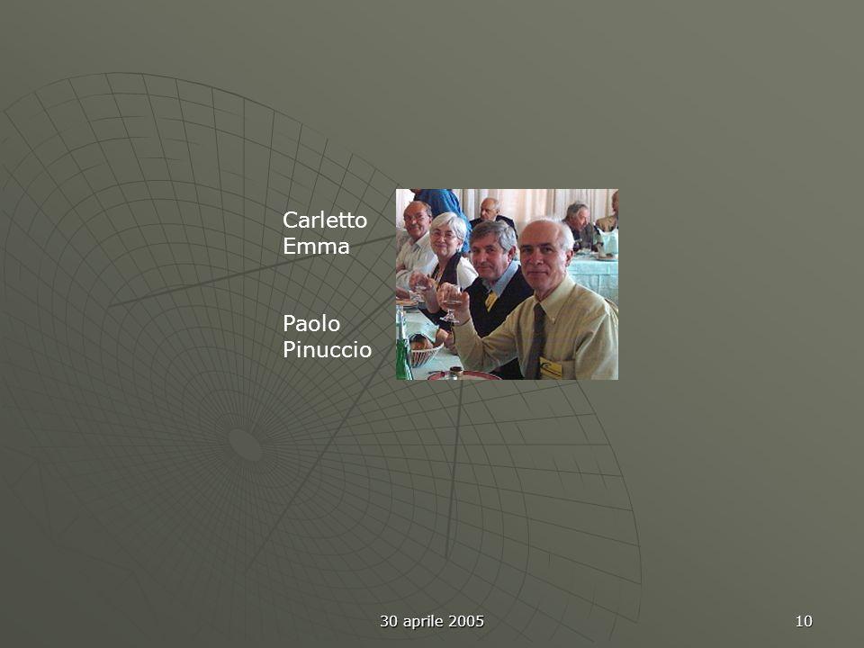 30 aprile 2005 10 Carletto Emma Paolo Pinuccio