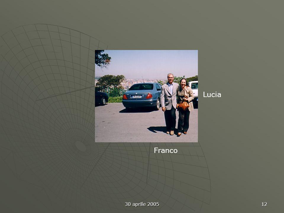 30 aprile 2005 12 Franco Lucia