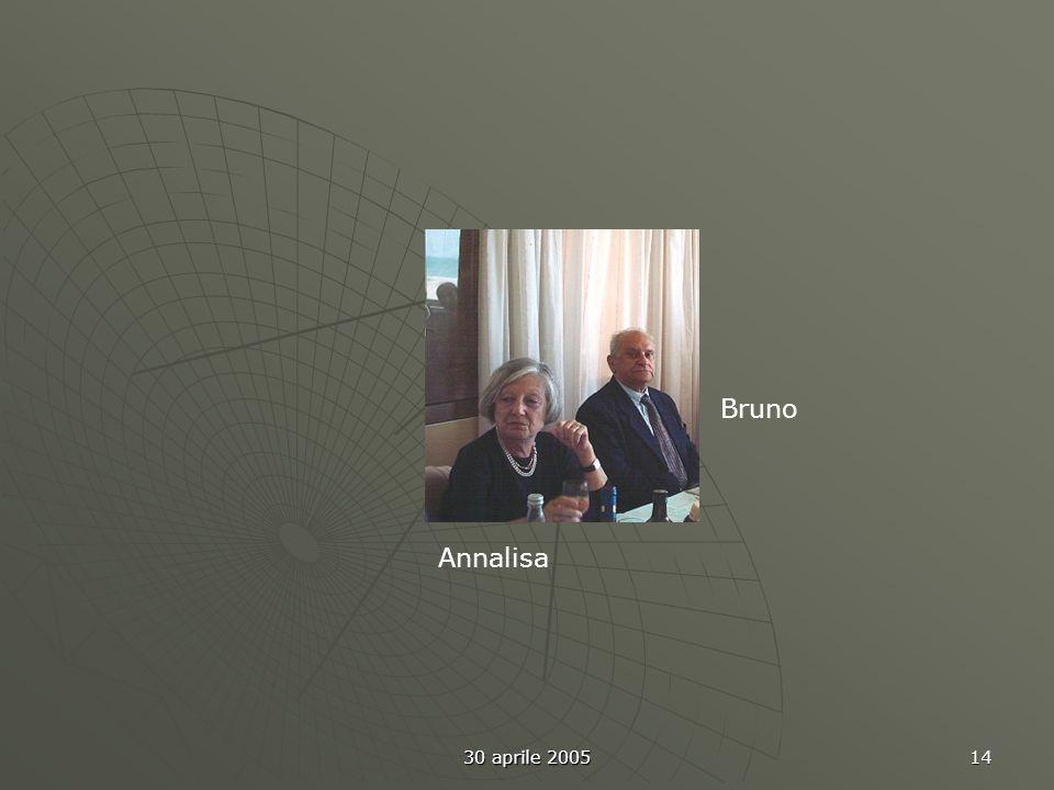 30 aprile 2005 14 Annalisa Bruno