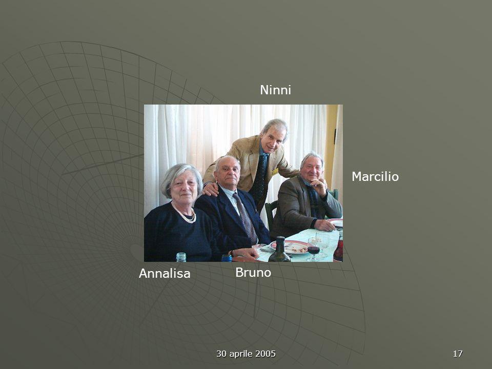 30 aprile 2005 17 Ninni Marcilio Annalisa Bruno