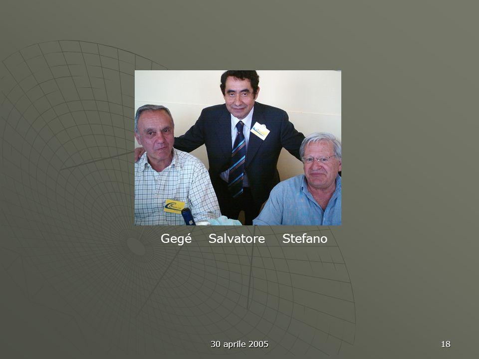 30 aprile 2005 18 Gegé Salvatore Stefano