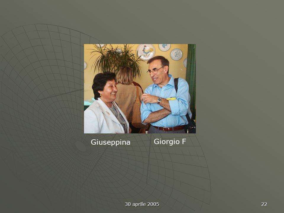 30 aprile 2005 22 Giuseppina Giorgio F