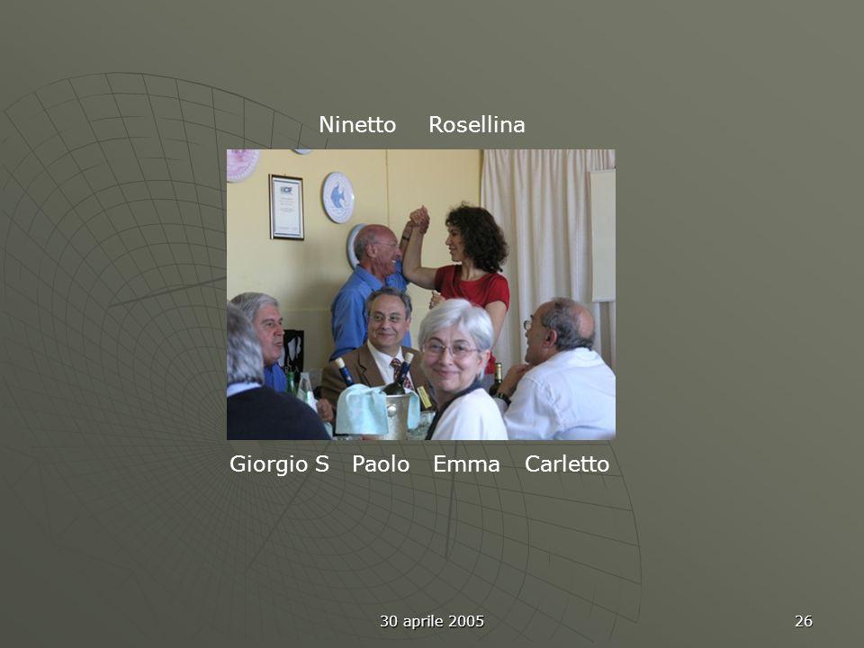 30 aprile 2005 26 Giorgio S Paolo Emma Carletto Ninetto Rosellina